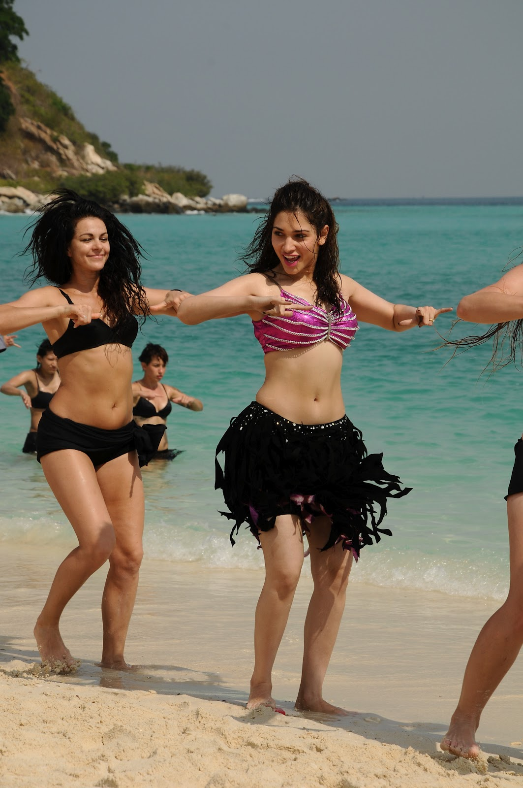 Tamannaah Bhatia in Pink Bikini in Rebel Movie
